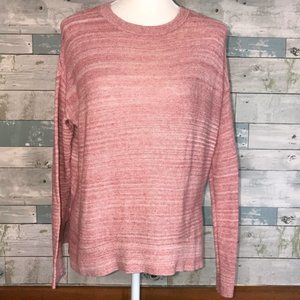 Lou & Grey Soft Red Cotton Textured Sweater #257